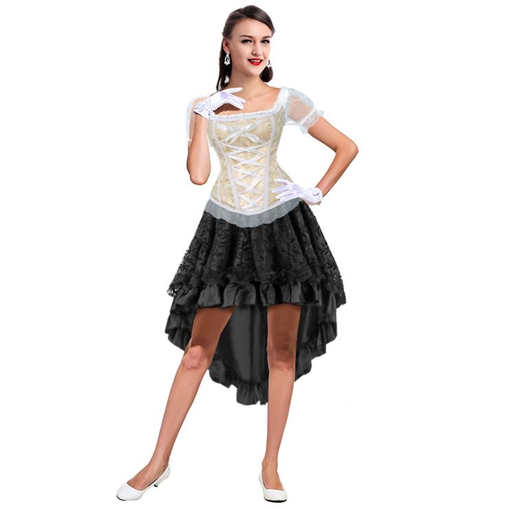 Burlesque Dancing Corset Skirt Set, Women