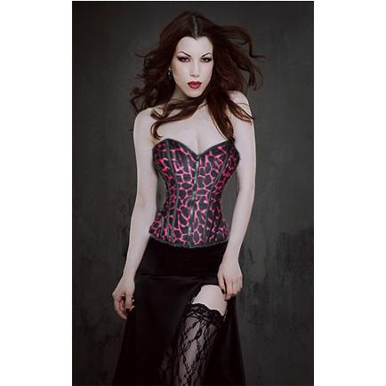 Steel Boning corset, Zipper Front Corset, Lace-Up Corset, #N3353