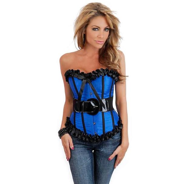 sexy lingerie blue corset bustier M2676