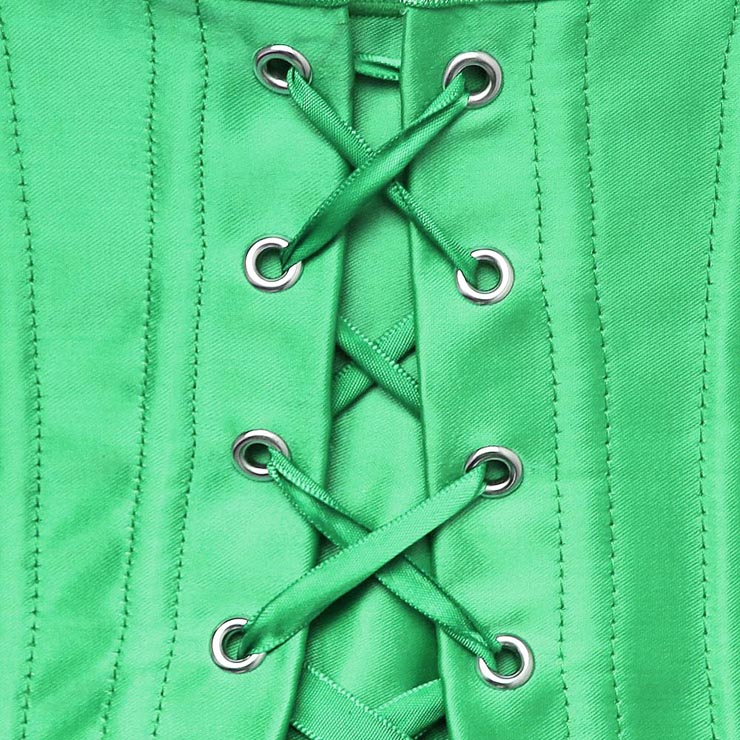 corset with front Bows, Sexy corset, green corset, Sexy Clubwear Corset, Sexy Strapless Bustier, #N1244