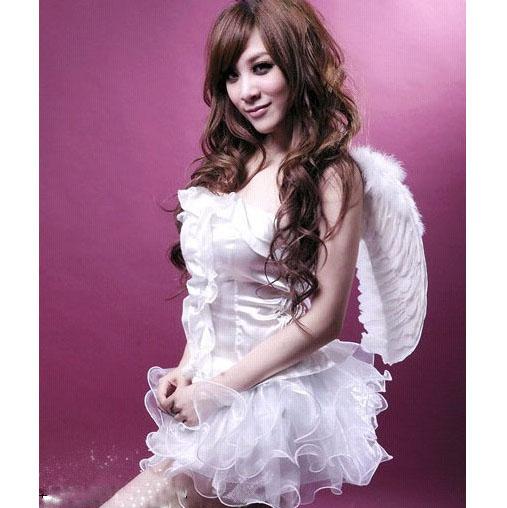 Sweet Pure White Angel Corset and Tutu Skirt Costume Set N1614