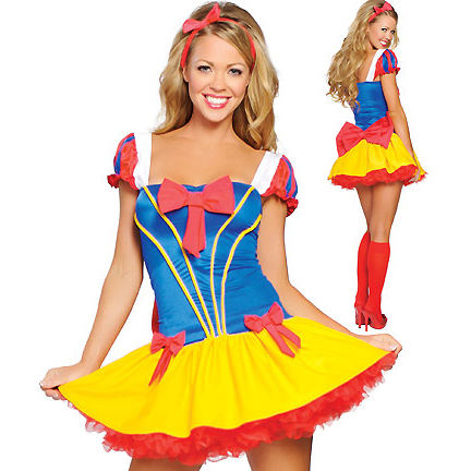 Two Piece Enchanting Snow Costume N1625