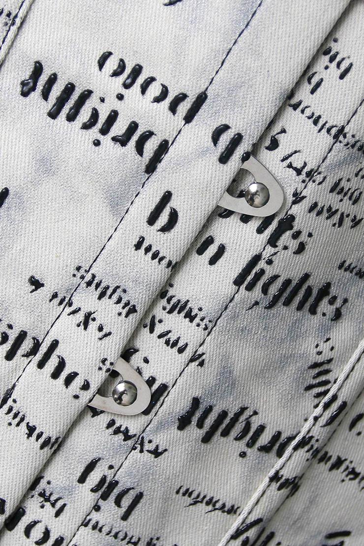 print word corset, print corset, Sexy print word corset, #N4505