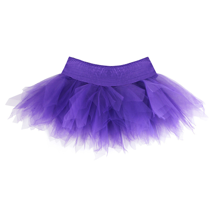 Purple Mini Skirt, Mini Skirt, Sexy Skirt, Fashion Mesh Tutu Skirt, Purple Gothic Mesh Skirt, Fashion Mini Petticoat, #HG2670