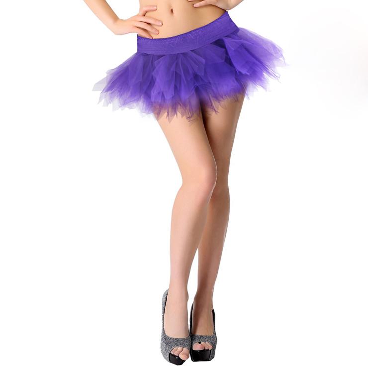 Women's Fashion Purple Tutu Skirt Mini Petticoat HG2670