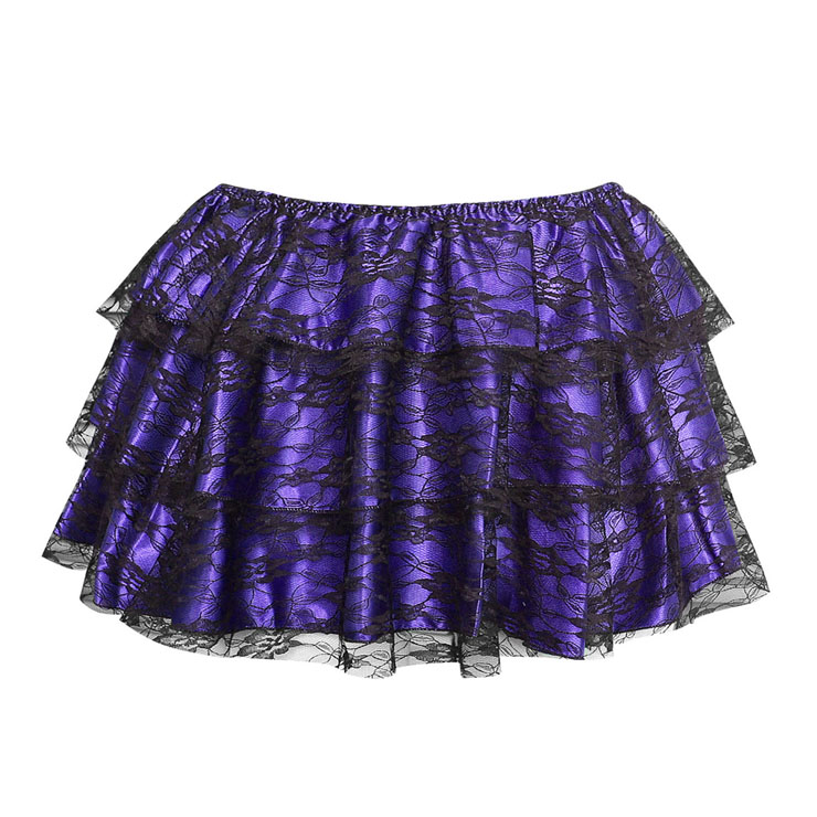 purple mini Skirt  HG6167