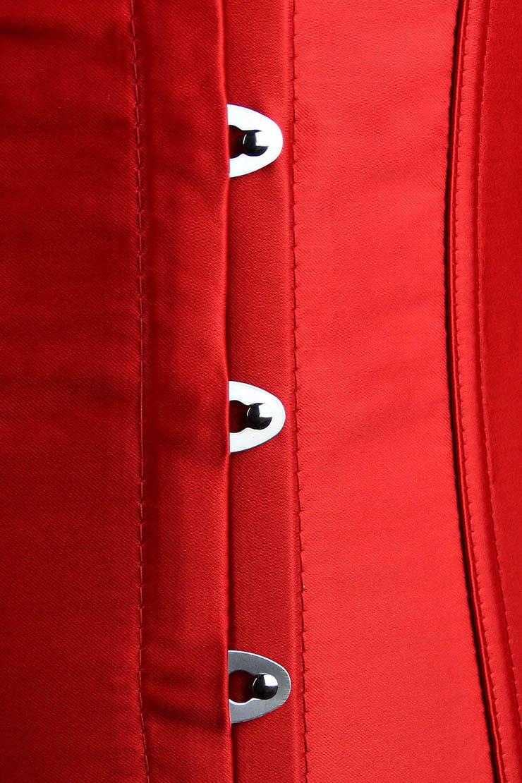 red satin corset , underbust corset, red underbust corset, #N1440