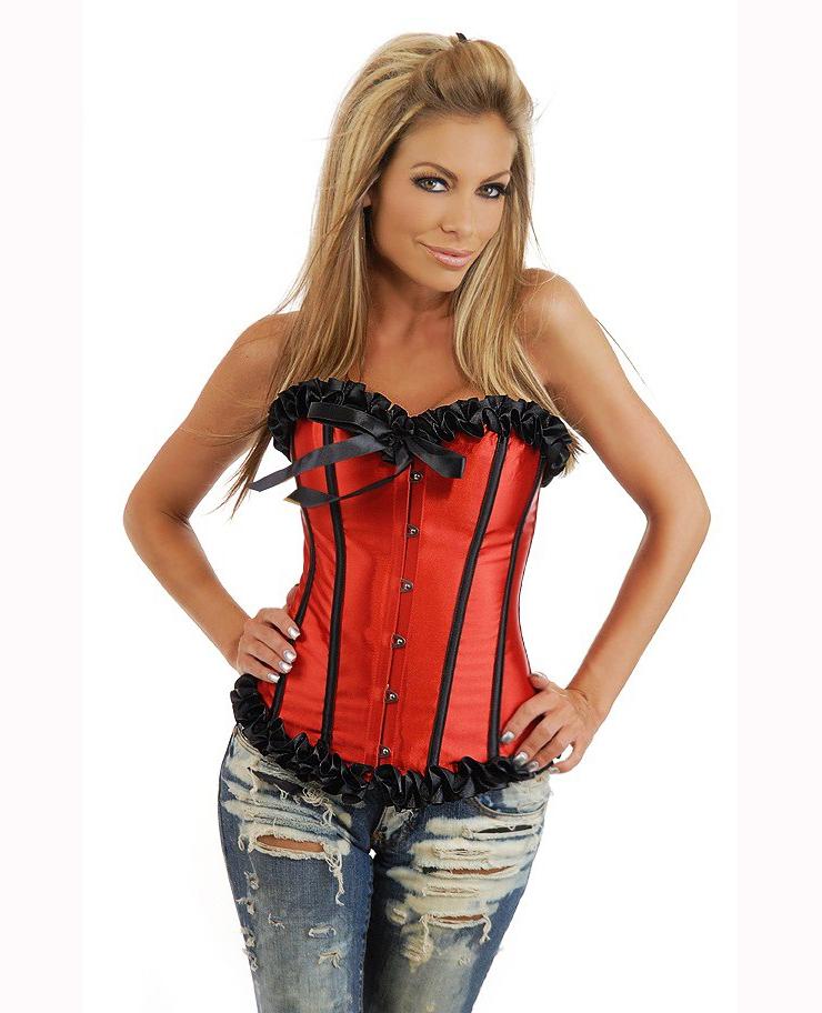 dee68290dfc red corset bustier M4018