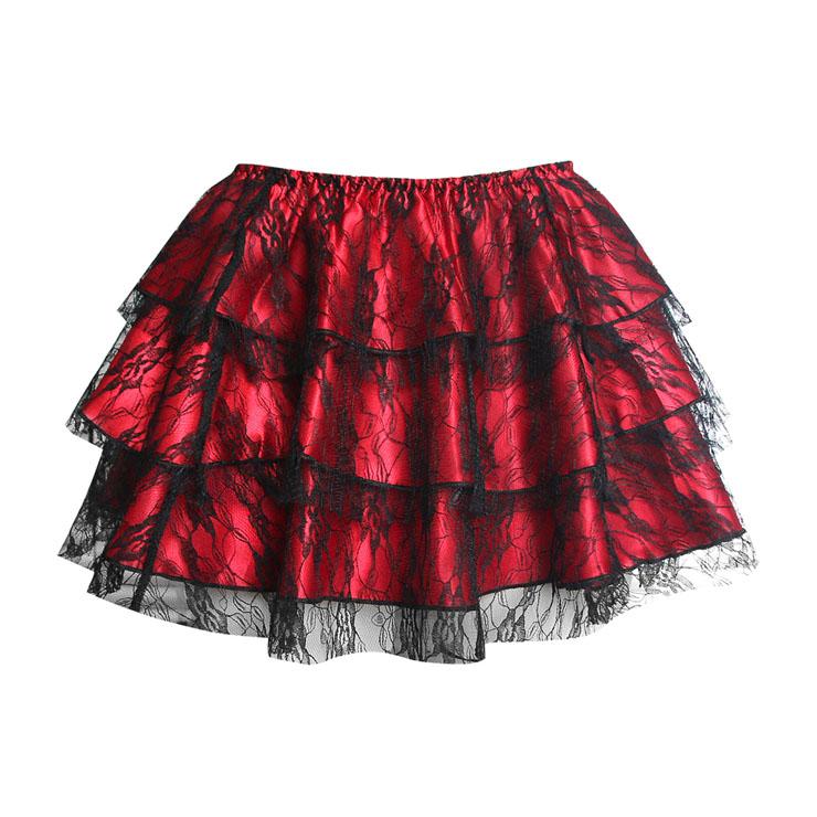 red mini Skirt  HG1903
