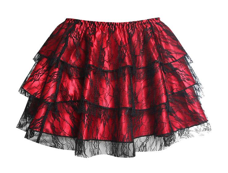 red mini Skirt, sexy Skirt, Petticoat, Corsets Skirt,#HG1903