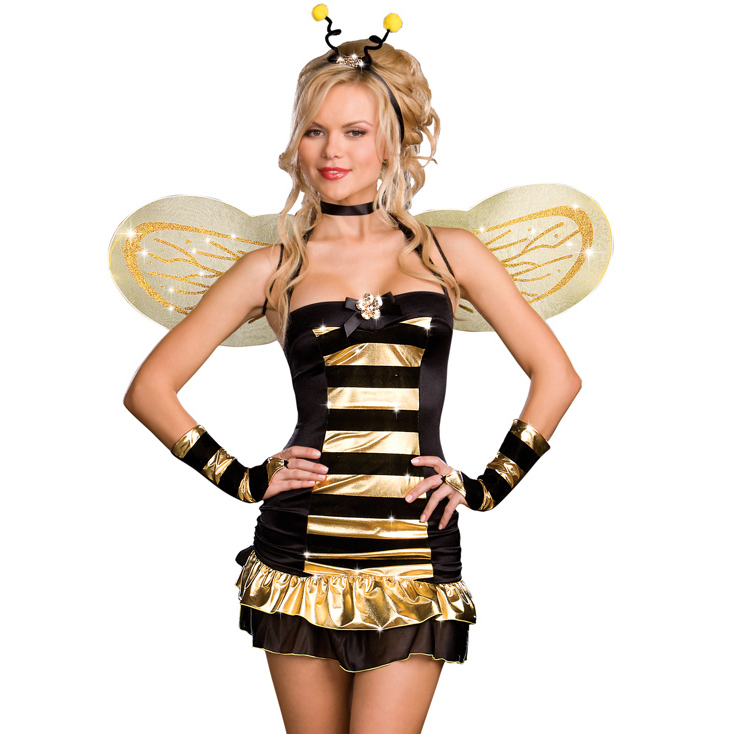 sc 1 st  MallTop1.com & 4PC Sexy Bee Costume N1701