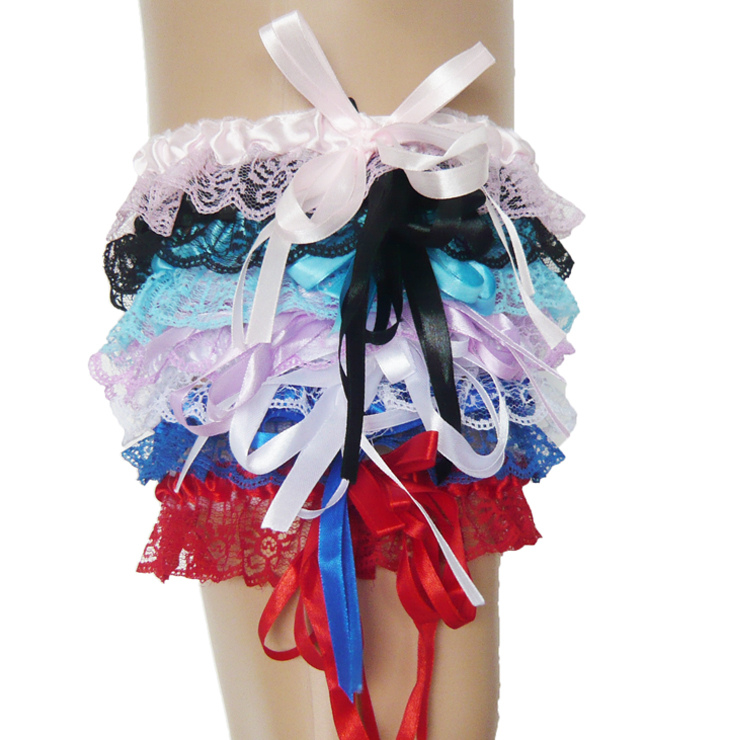 sexy Leg Garter, sexy lingerie wholesale, Satin Lace Garter, #HG1905