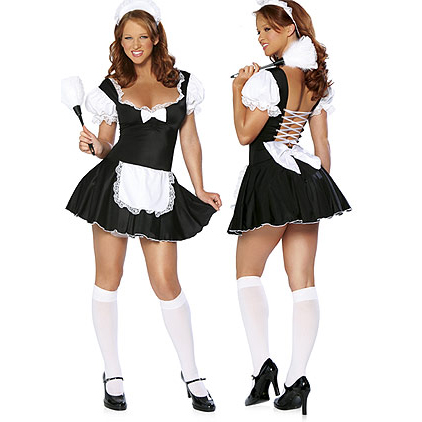 Sexy French Maid Costume, Late Nite French Maid Outfit, French Maid Dress, #M1452