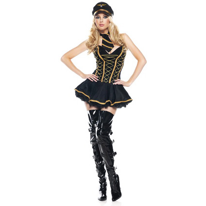 Miss Frieda Mingle Costume, Mile High Hottie Costume, Womens Pilot Costume, #N1202