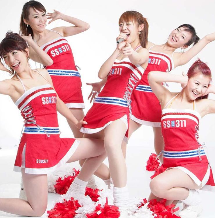 Fashion Red Cheerleader Mini Dress Costume Set M1297