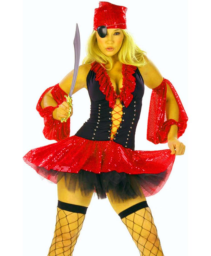 Deluxe Sequin Pirate Costume P1851