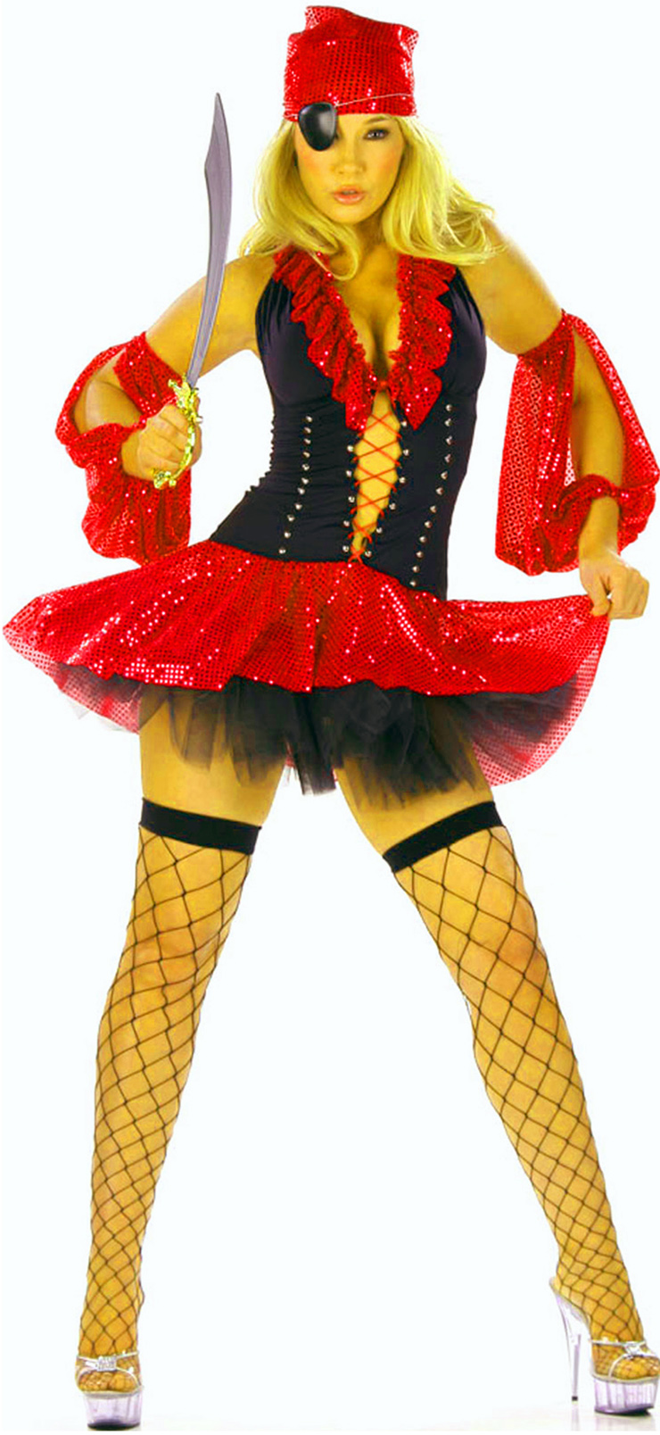 Deluxe Sequin Pirate Costume, Sequin Pirate Costume, Pirate Dress, #P1851