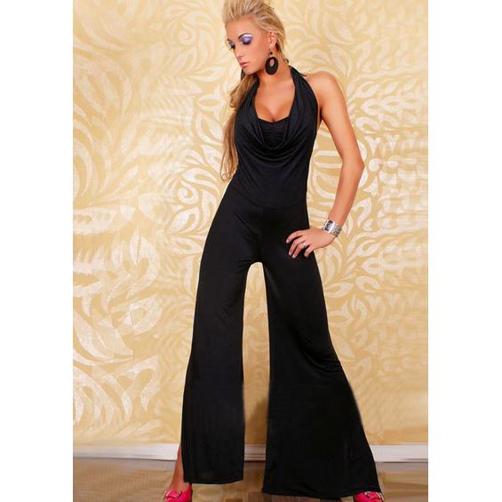Ladies Jumpsuit Black N4382