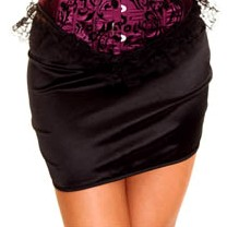 Sexy All-match Black Wrap Stretchy Mini Skirt HG2626