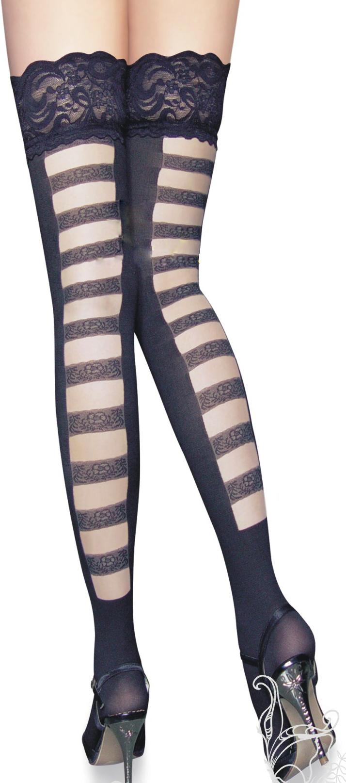 Black Thigh High, silicone lace top Thigh High, Thigh High, #HG5875
