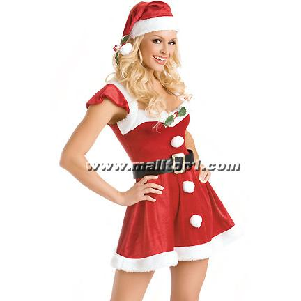 XT2219 china Sexy Santa Lingerie wholesale for women. Deck-the-Halls-XT2219